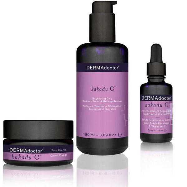 Kakadu C Cleanser, Serum & Face Crème Trio-DERMAdoctor-UAE-BEAUTY ON WHEELS