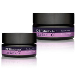 Kakadu C Face Crème And Eye Soufflé Duo-DERMAdoctor-UAE-BEAUTY ON WHEELS