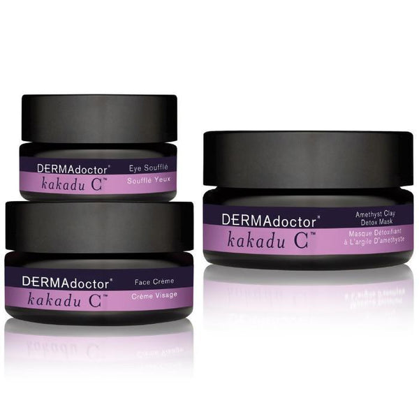 Kakadu C Mask, Face Crème & Eye Soufflé Trio-Face Care-DERMAdoctor-BEAUTY ON WHEELS-UAE-Dubai-Abudhabi-KSA-الامارات