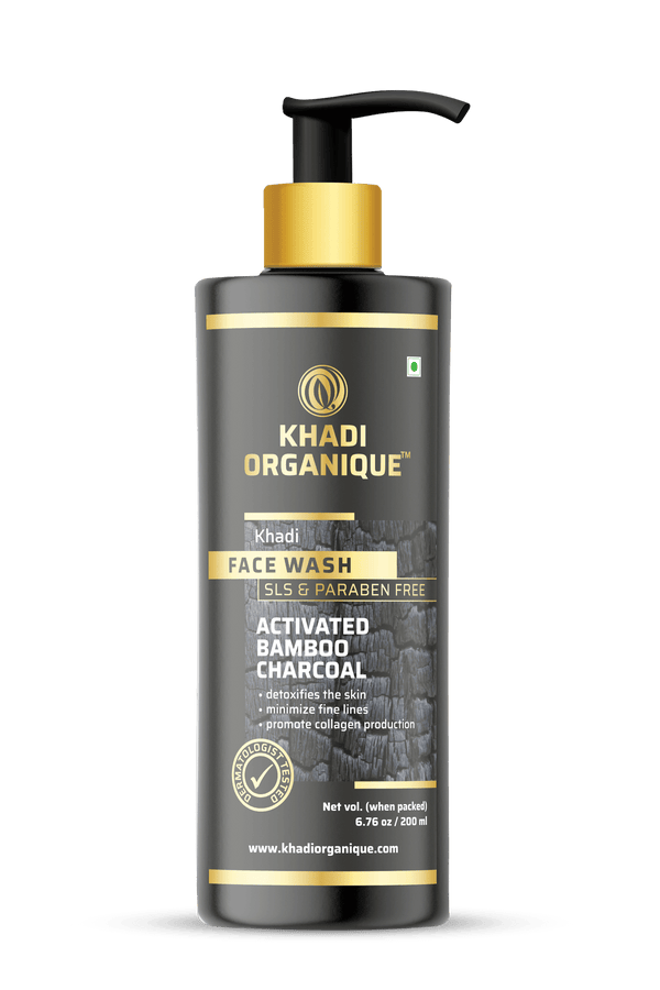 Khadi Organique-Active Bamboo Charcoal Face Wash-BEAUTY ON WHEELS