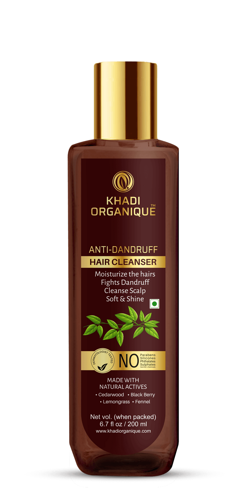 Khadi Organique-Anti-Dandruff Hair Cleanser With Curry Leaf-BEAUTY ON WHEELS