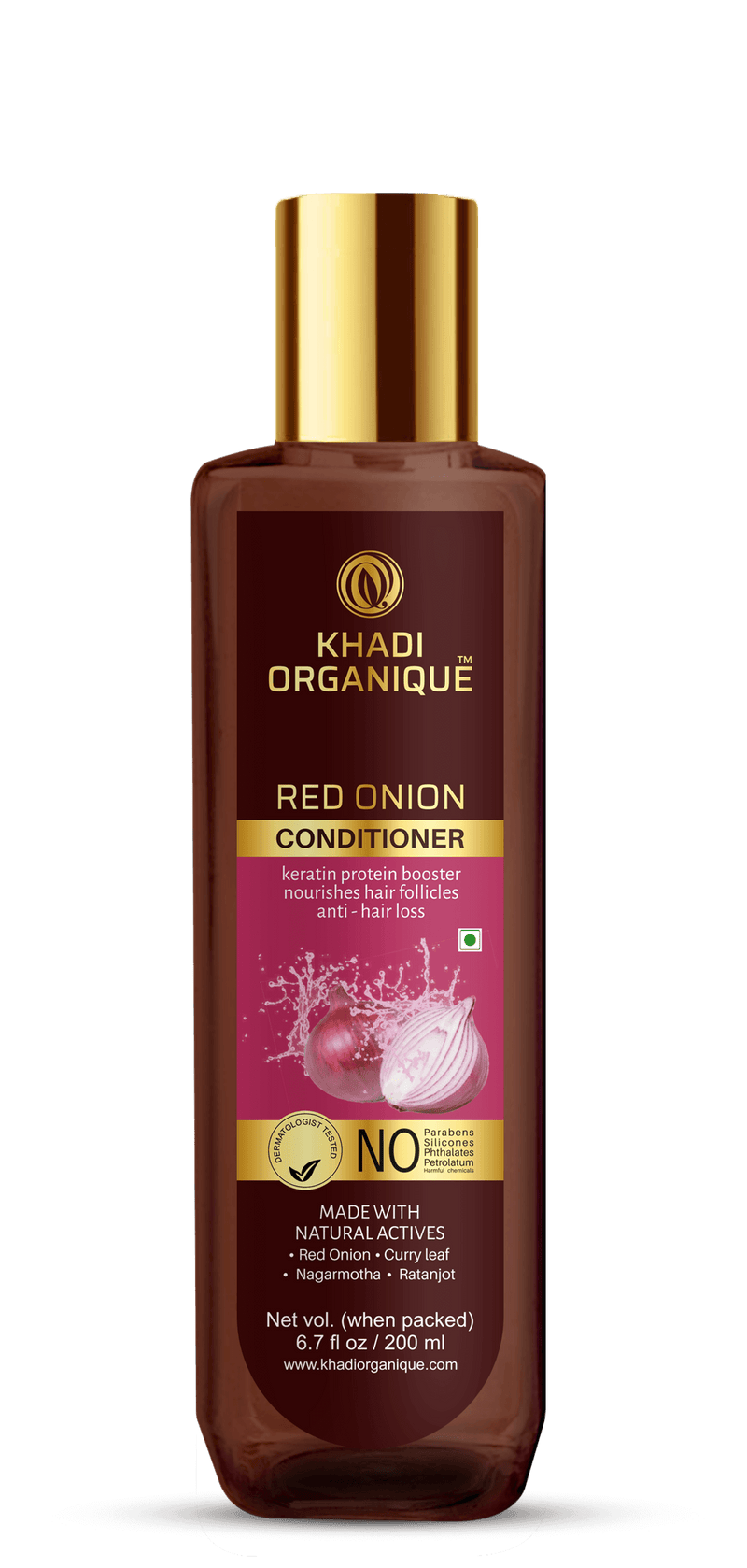 Khadi Organique-Red Onion Hair Conditioner-BEAUTY ON WHEELS
