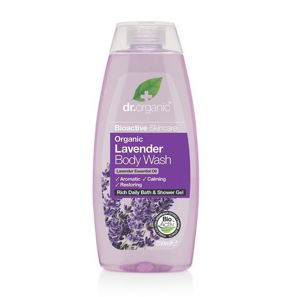 Lavender Body Wash 250Ml-Dr Organic-UAE-BEAUTY ON WHEELS