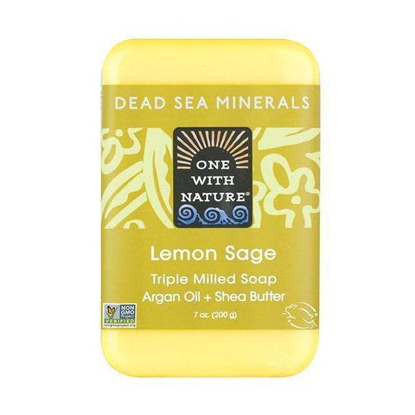 Lemon Sage Bar Soap-One With Nature-UAE-BEAUTY ON WHEELS