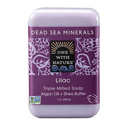 Lilac Bar Soap-Body Care-One With Nature-BEAUTY ON WHEELS-UAE-Dubai-Abudhabi-KSA-الامارات