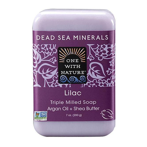 Lilac Bar Soap-One With Nature-UAE-BEAUTY ON WHEELS