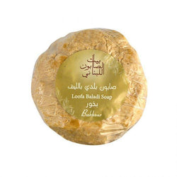 Loofa Baladi Soap Bakhour 300G-Body Care-Bayt Al Saboun-BEAUTY ON WHEELS-UAE-Dubai-Abudhabi-KSA-الامارات