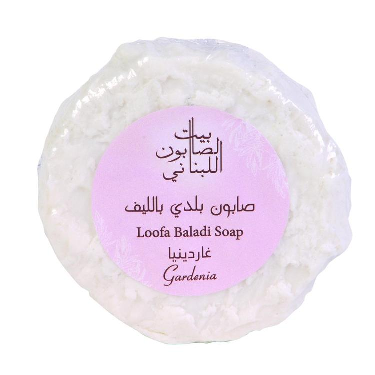 Loofa Baladi Soap Gardenia 300G-Body Care-Bayt Al Saboun-BEAUTY ON WHEELS-UAE-Dubai-Abudhabi-KSA-الامارات
