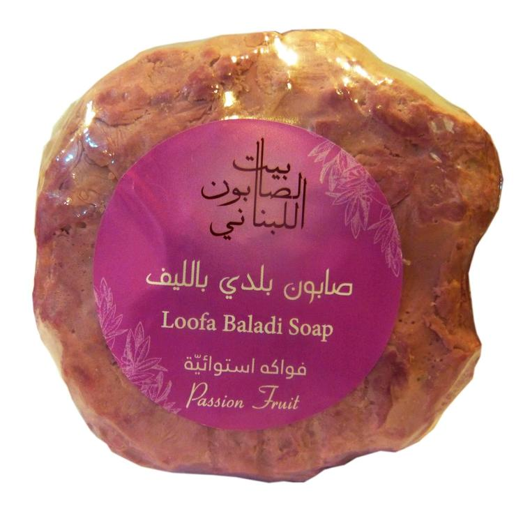 Loofa Baladi Soap Passion Fruit 300G-Bayt Al Saboun-UAE-BEAUTY ON WHEELS