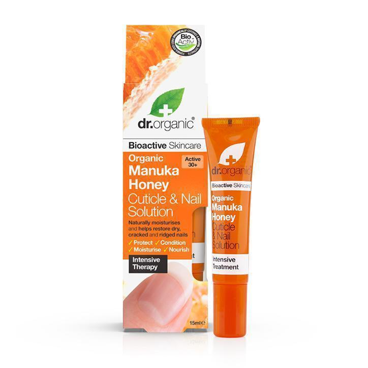 Manuka Honey Cuticle & Nail Solution 15Ml-Dr Organic-UAE-BEAUTY ON WHEELS