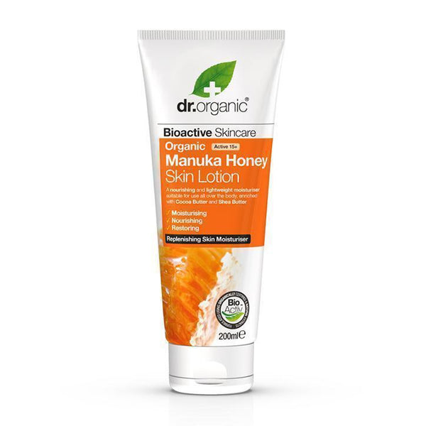 Manuka Honey Skin Lotion-Face Care-Dr Organic-BEAUTY ON WHEELS-UAE-Dubai-Abudhabi-KSA-الامارات