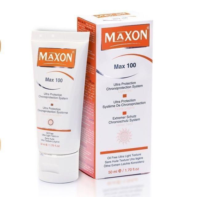 Max 100 Tinted Light 50 Ml-Face Care-Maxon-BEAUTY ON WHEELS-UAE-Dubai-Abudhabi-KSA-الامارات