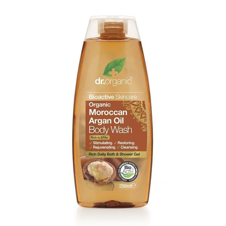 Moroccan Argan Oil Body Wash 250 Ml-Dr Organic-UAE-BEAUTY ON WHEELS