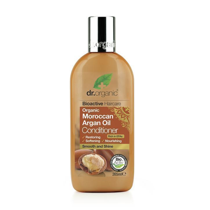 Moroccan Argan Oil Conditioner 265Ml-Hair Care-Dr Organic-BEAUTY ON WHEELS-UAE-Dubai-Abudhabi-KSA-الامارات