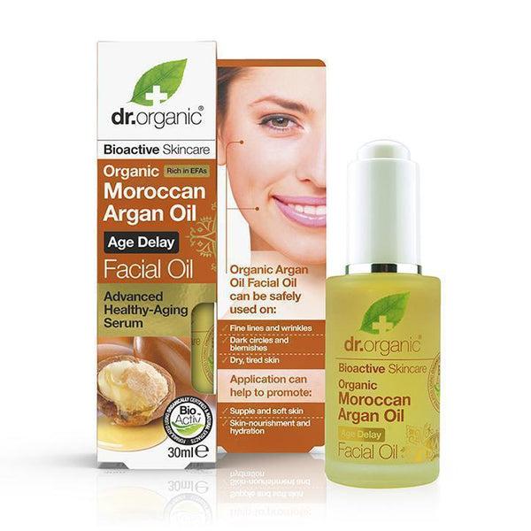 Moroccan Argan Oil Facial Oil 30Ml-Face Care-Dr Organic-BEAUTY ON WHEELS-UAE-Dubai-Abudhabi-KSA-الامارات