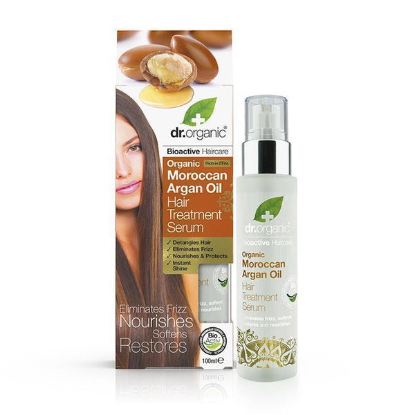 Moroccan Argan Oil Hair Treatment Serum 100Ml-Dr Organic-UAE-BEAUTY ON WHEELS