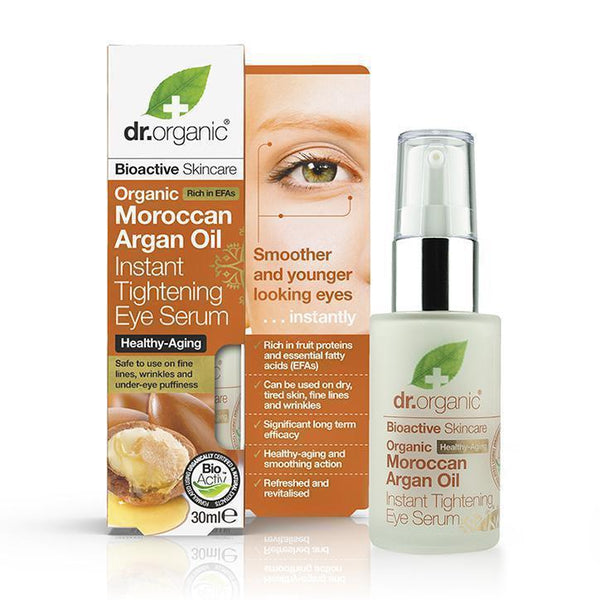 Moroccan Argan Oil Instant Tightening Eye Serum-Dr Organic-UAE-BEAUTY ON WHEELS