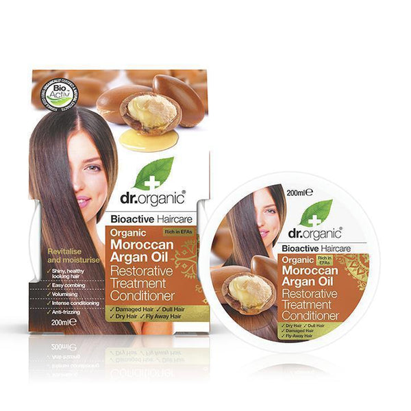 Moroccan Argan Oil Restorative Treatment Conditioner 200 Ml-Hair Care-Dr Organic-BEAUTY ON WHEELS-UAE-Dubai-Abudhabi-KSA-الامارات