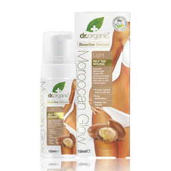 Moroccan Glow Light Self Tan Mousse 150ml-Dr Organic-UAE-BEAUTY ON WHEELS