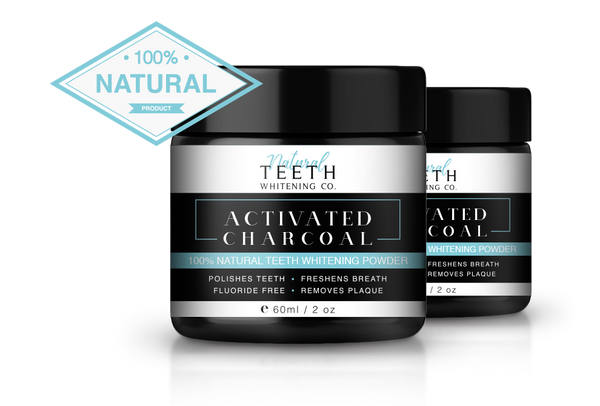Natural Teeth Whitening 50 G - 2 Pack Full 1 Month Course-Personal Care-Tom Oliver-BEAUTY ON WHEELS-UAE-Dubai-Abudhabi-KSA-الامارات