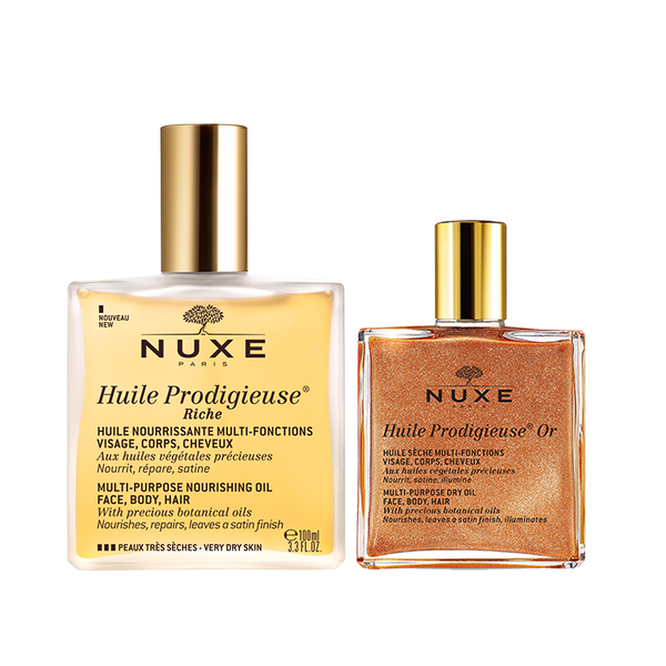 Nuxe-Huile Prodigieuse Riche and Shimmering Duo-BEAUTY ON WHEELS