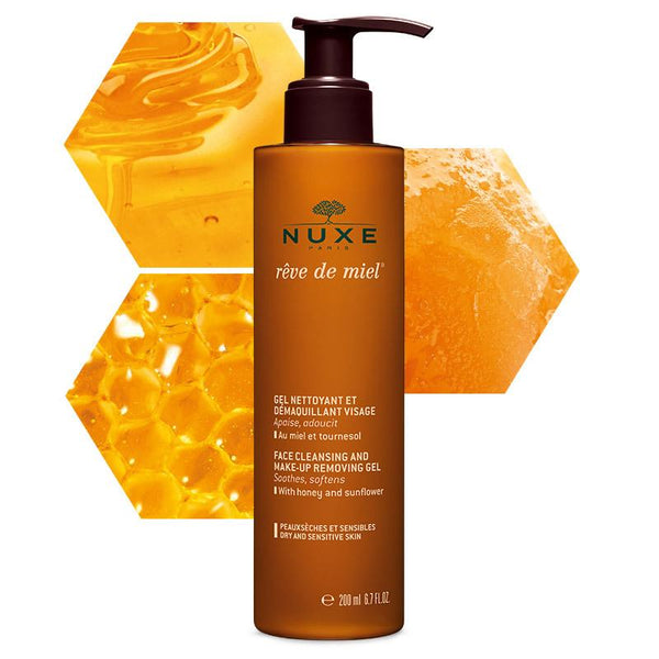 Nuxe-Reve de Miel Face Cleansing and Make-Up Removing Gel 200 Ml-BEAUTY ON WHEELS