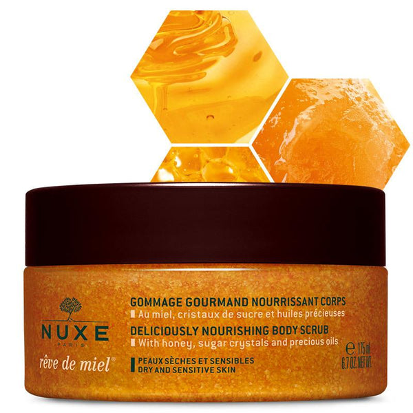 Nuxe-Reve de Miel Nourishing Body Scrub 175mL-BEAUTY ON WHEELS