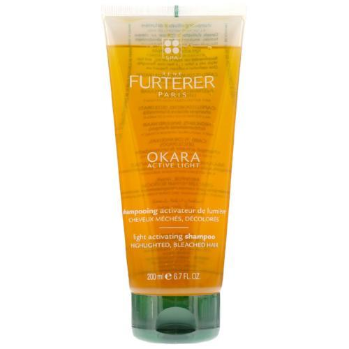 Okara Light Activating Shampoo (For Highlighted Bleached Hair) - 200Ml-Hair Care-Rene Furterer-BEAUTY ON WHEELS-UAE-Dubai-Abudhabi-KSA-الامارات