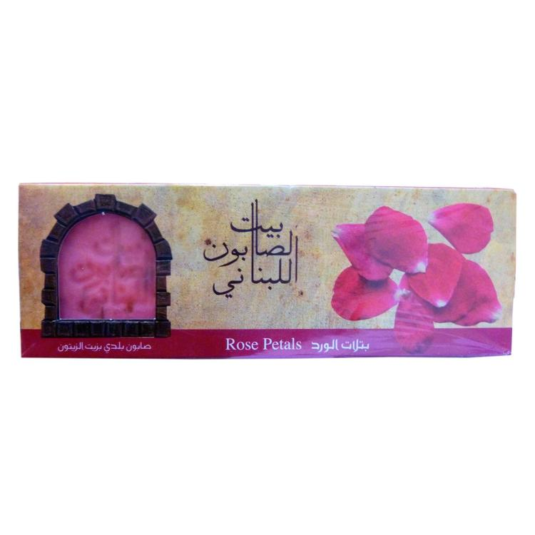 Olive Oil Baladi Soap Rose Petals 80G X3-Body Care-Bayt Al Saboun-BEAUTY ON WHEELS-UAE-Dubai-Abudhabi-KSA-الامارات