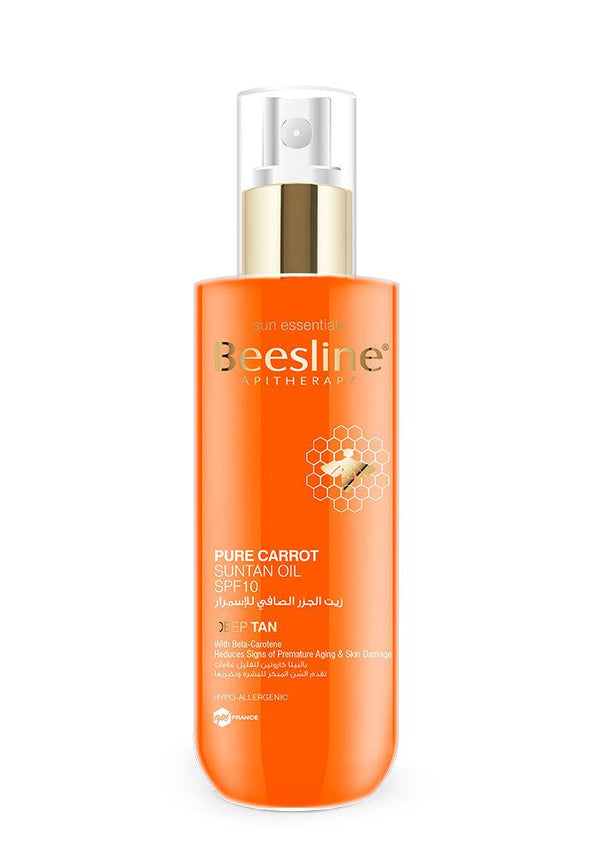 Pure Carrot Suntan Oil 200Ml Spf10-Beesline-UAE-BEAUTY ON WHEELS