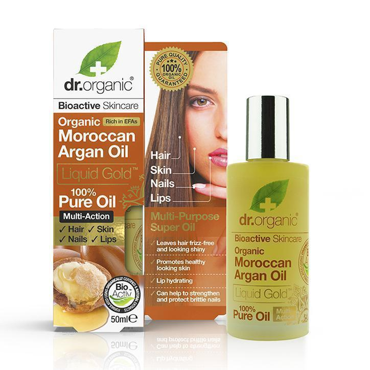 Pure Moroccan Argan Oil-Dr Organic-UAE-BEAUTY ON WHEELS