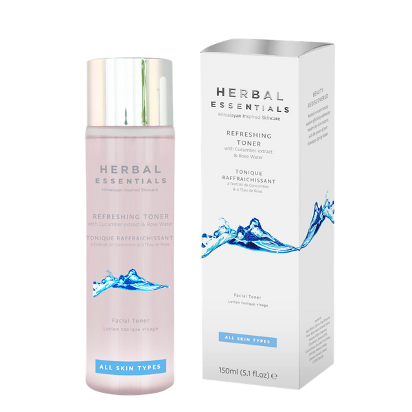 Refreshing Toner With Cucumber Extract & Rose Water-Face Care-Herbal Essentials-BEAUTY ON WHEELS-UAE-Dubai-Abudhabi-KSA-الامارات
