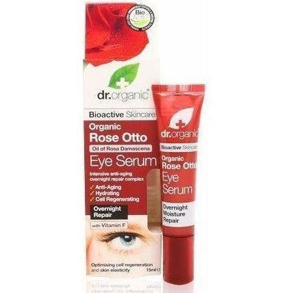 Rose Otto Eye Serum 15Ml-Face Care-Dr Organic-BEAUTY ON WHEELS-UAE-Dubai-Abudhabi-KSA-الامارات