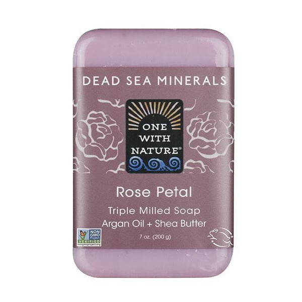 Rose Petal Bar Soap-One With Nature-UAE-BEAUTY ON WHEELS