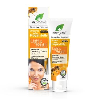 Royal Jelly Light & Bright Cream 125ml-Dr Organic-UAE-BEAUTY ON WHEELS