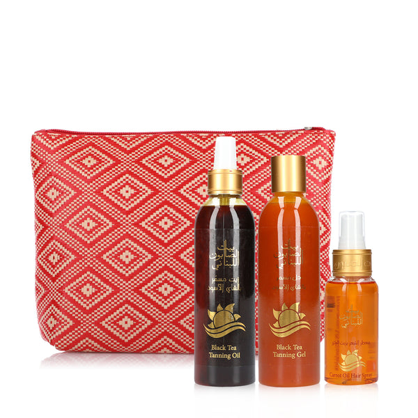 Bayt Al Saboun-Bayt Al Saboun Black Tea Tanning Set 2-BEAUTY ON WHEELS