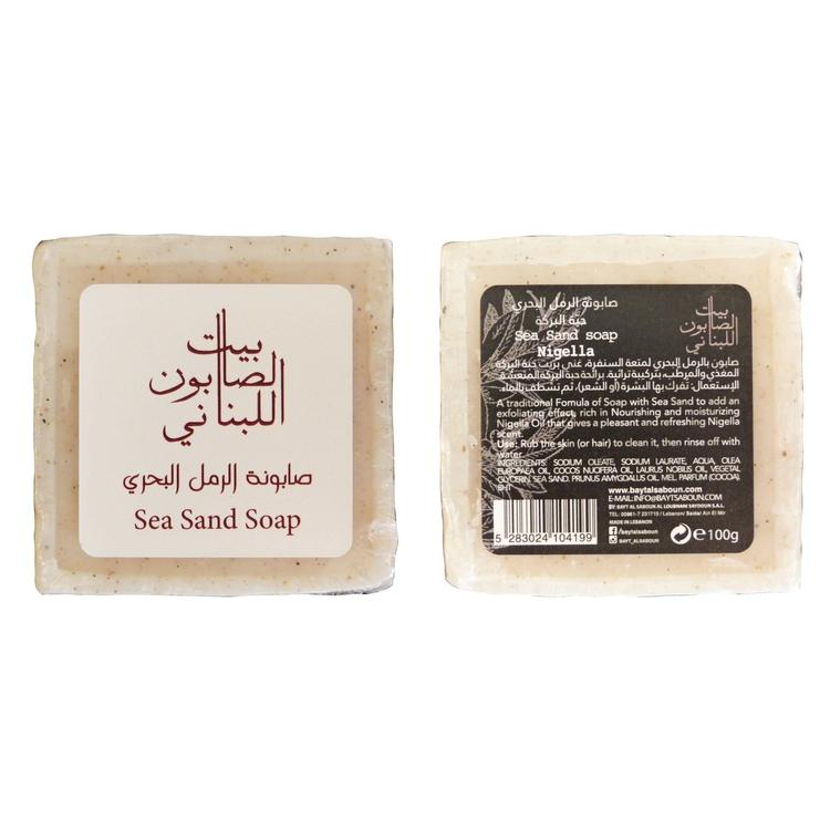 Bayt Al Saboun-Sea Sand Body Soap Nigella 100G Online UAE | BEAUTY ON WHEELS