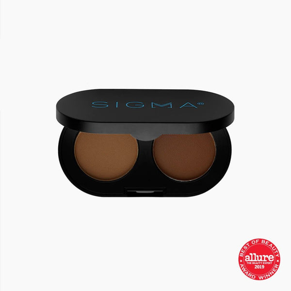 Sigma Beauty-Color + Shape Brow Powder Duo - Medium-BEAUTY ON WHEELS