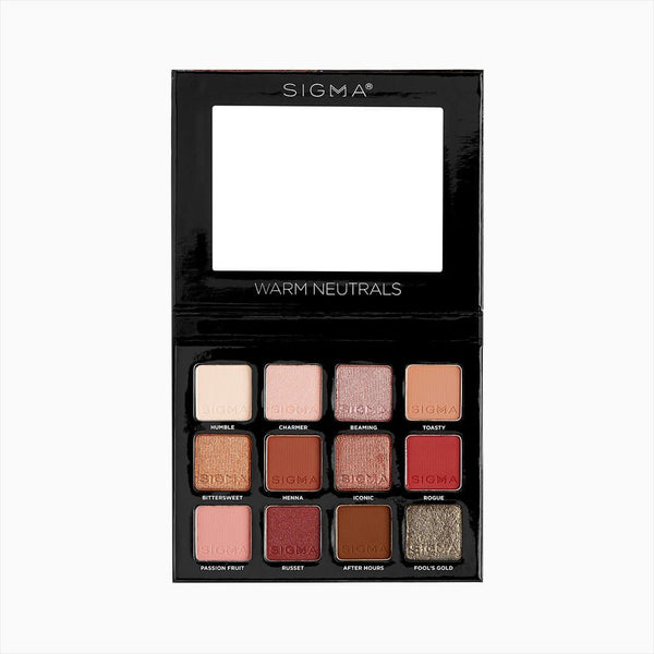 Sigma Beauty-Warm Neutrals Volume 2 Eyeshadow Palette-BEAUTY ON WHEELS