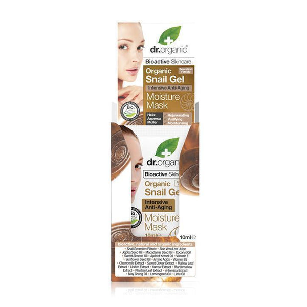Snail Gel Face Mask 10Ml Sachet-Face Care-Dr Organic-BEAUTY ON WHEELS-UAE-Dubai-Abudhabi-KSA-الامارات