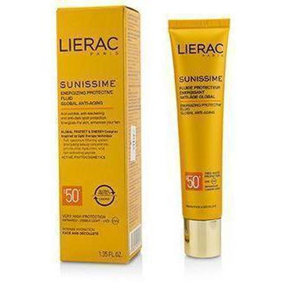 Sunissime Global Anti-Aging Energizing Protective Fluid Spf50+ For Face & Decollete-Face Care-Lierac-BEAUTY ON WHEELS-UAE-Dubai-Abudhabi-KSA-الامارات