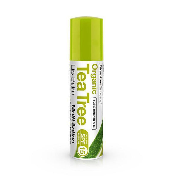 Tea Tree Lip Balm 5.7Ml-Face Care-Dr Organic-BEAUTY ON WHEELS-UAE-Dubai-Abudhabi-KSA-الامارات