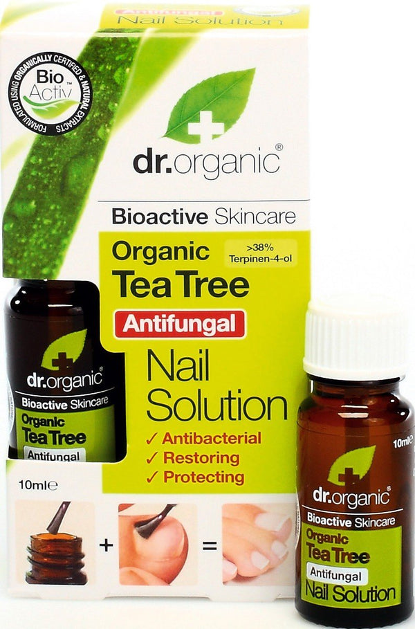 Tea Tree Nail Solution 10Ml-Dr Organic-UAE-BEAUTY ON WHEELS