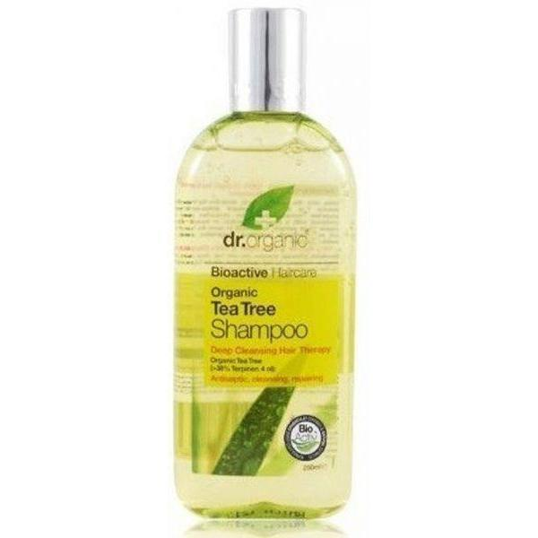 Tea Tree Shampoo 265Ml-Hair Care-Dr Organic-BEAUTY ON WHEELS-UAE-Dubai-Abudhabi-KSA-الامارات