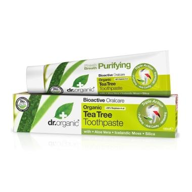Tea Tree Toothpaste 100ml-Dr Organic-UAE-BEAUTY ON WHEELS