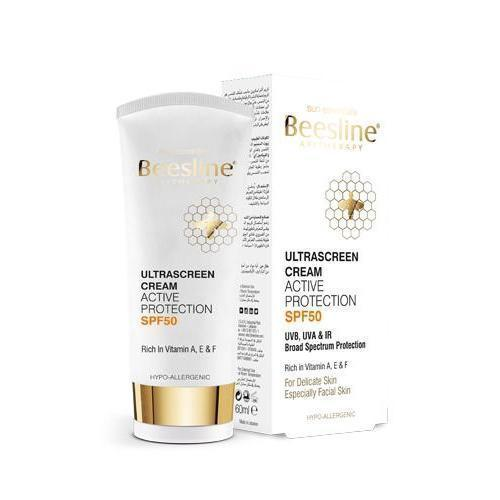 Ultrascreen Cream Active Protection Spf50+ 60Ml-Beesline-UAE-BEAUTY ON WHEELS