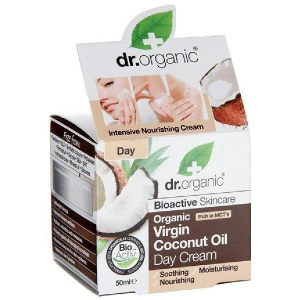 Virgin Coconut Oil Day Cream 50 Ml-Face Care-Dr Organic-BEAUTY ON WHEELS-UAE-Dubai-Abudhabi-KSA-الامارات