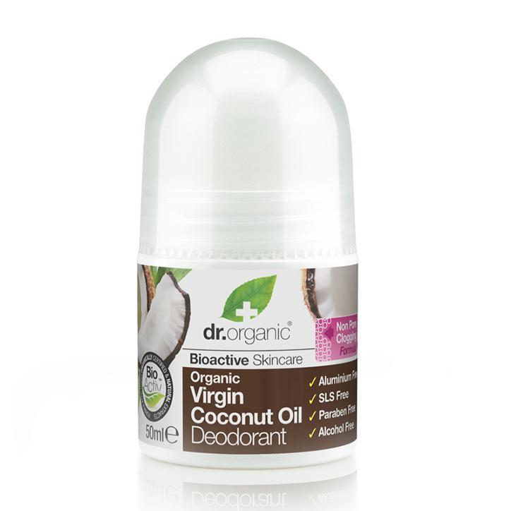 Virgin Coconut Oil Deodorant 50Ml-Dr Organic-UAE-BEAUTY ON WHEELS