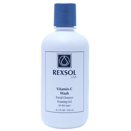 Vitamin-C Wash-Facial Cleanser 240Ml-Face Care-Rexsol-BEAUTY ON WHEELS-UAE-Dubai-Abudhabi-KSA-الامارات