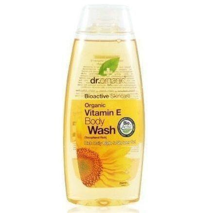Vitamin E Body Wash-Body Care-Dr Organic-BEAUTY ON WHEELS-UAE-Dubai-Abudhabi-KSA-الامارات